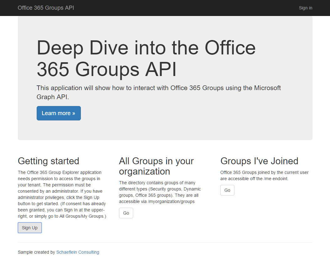 Exploring the Office 365 Groups API
