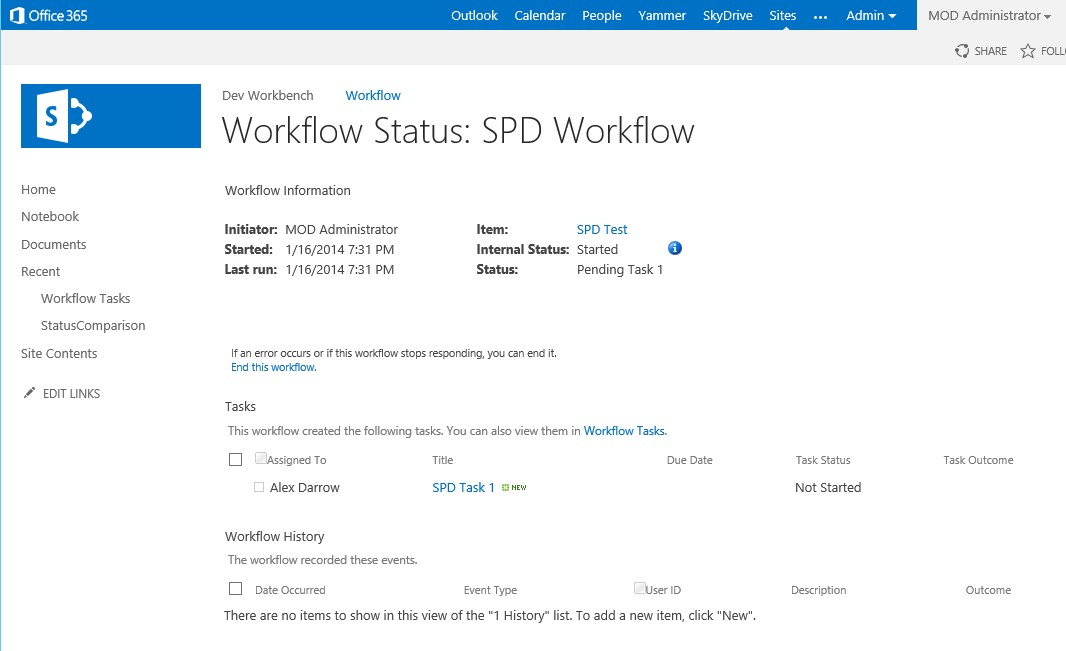 Setting Workflow Status In Visual Studio And Sharepoint