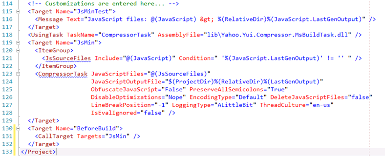Minifying JavaScript Files with Build Events
