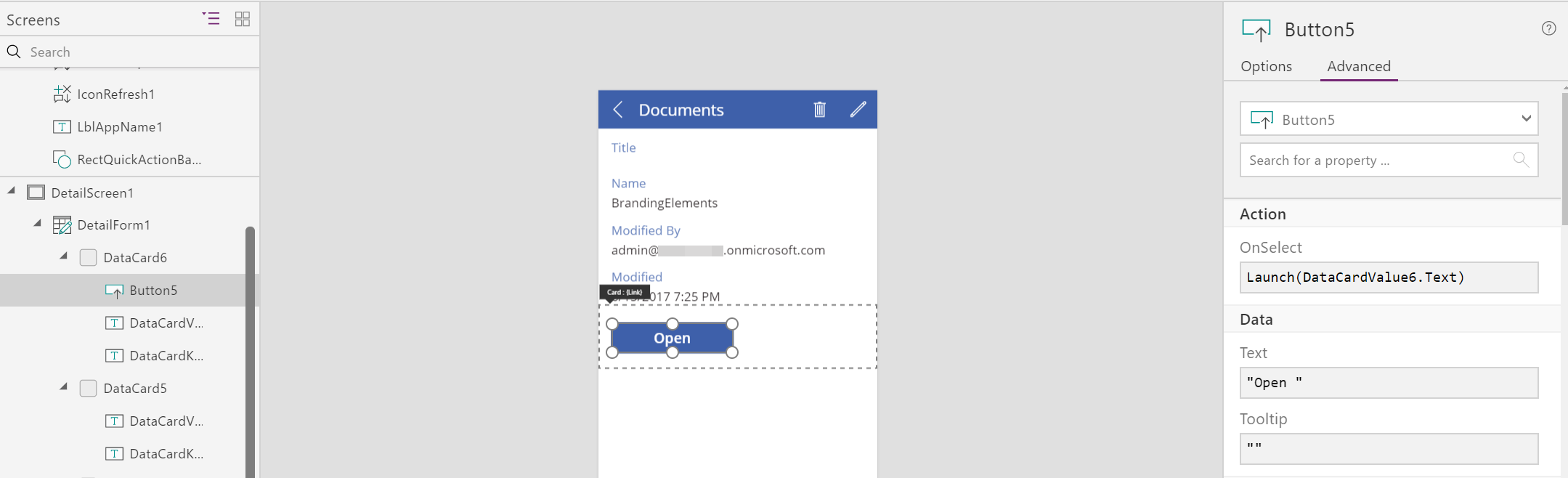 Connect to SharePoint Document Library from PowerApps