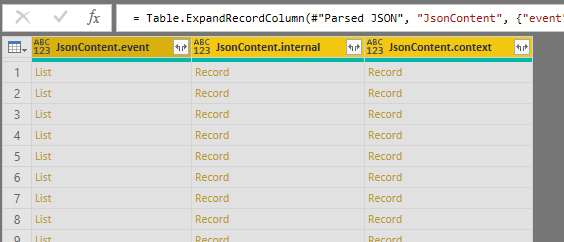 Exported AppInsights data in PowerBI
